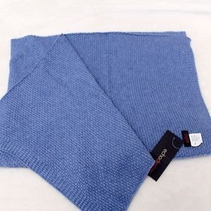 Echo Design Knitted Blue Oblong Scarf